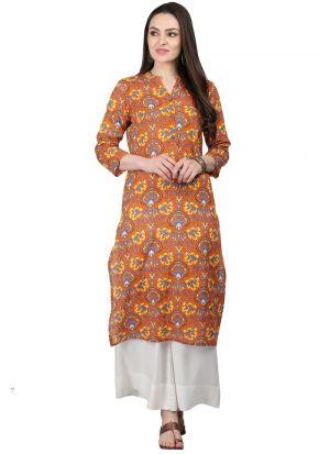 Multi Color Cotton Designer Stitched Kurti