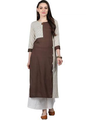 Multi Color Cotton Slub Designer Kurti For Women