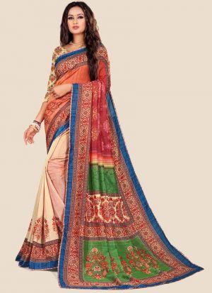 Multi Color Katki Silk Latest Design Festive Wear Saree