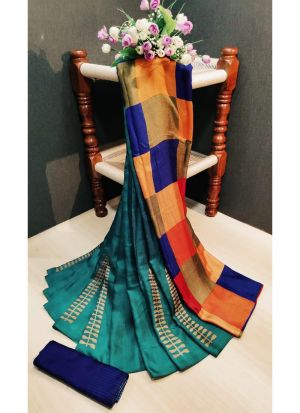 Multi Color Pashmina Silk Printed Traditional Saree