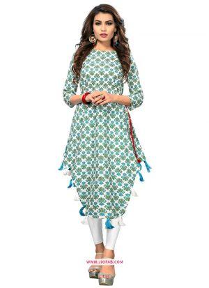 Multi Color Printed Stylish Indian Traditional Long Kurti