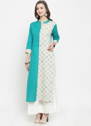 Multi Color Rayon Designer Kurti For Women