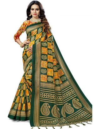 Multi Color South Indian Wedding Art Silk Saree