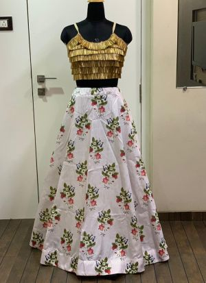 Multi Color Taffeta Silk Traditional Hit Design Lehenga Choli