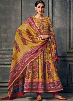 Muslin Cotton Multi Colour Anarkali Style Flared Kurti