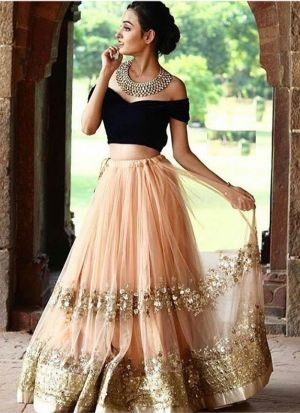 Net Peach looking for something classy lehenga choli