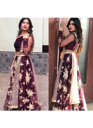 Net Wine looking for something classy lehenga choli