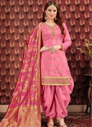 New Arrival Baby Pink Designer Patiala Suit
