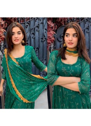New Arrival Green Anarkali Suit Pink Lawn Patiyala Salwar Suits