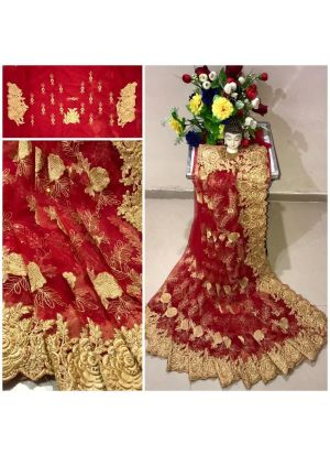 New Arrival Heavy Net Red Designer Saree