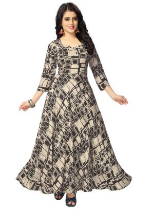 New Arrival Pure Heavy Rayon Black Kurti Collection
