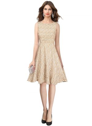 New Exclusive Designer Cream Dress