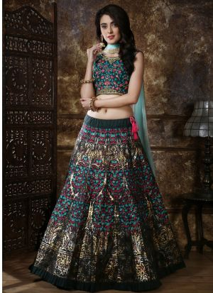 New Fancy Traditional Green Color Lehenga Choli