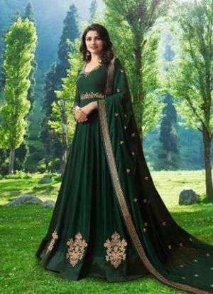 New Indian Traditional Look Green Georgette Salwar Kameez