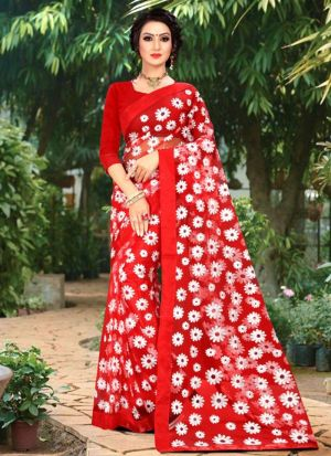 New Launching Superhit Designer Red Bollywood Saree Collection