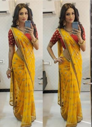 New Launching Superhit Designer Yellow Bollywood Saree Collection