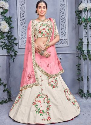 Off White Designer Lehenga Choli For Wedding