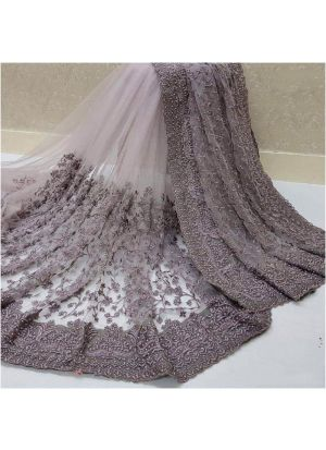 Onion Color New Launching Heavy Nylon Net Saree Collection