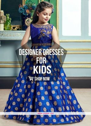 Party Wear Kids Gown In Morpich Color