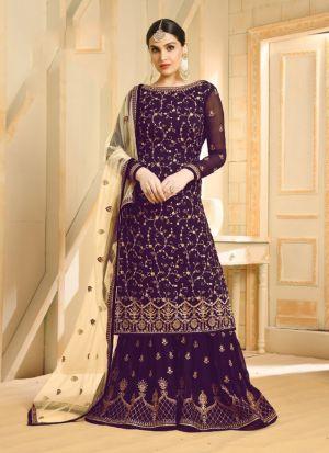 Party Wear Magenta Foux Georgette Designer Salwar Suit