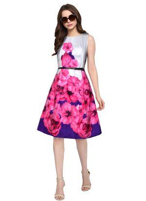 Pink A Line Dress