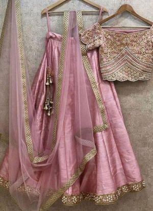 Pink Banglori Silk Designer Lehenga Choli With Fancy Thread Work NX 305