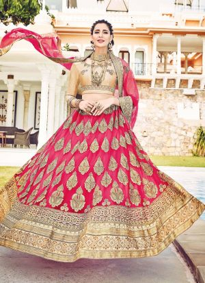 Pink Color Designer Lehenga Choli For Wedding
