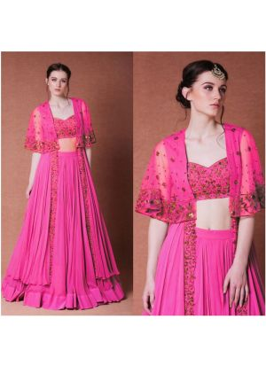 Pink New Hit Design Indo Western Lehenga Collection