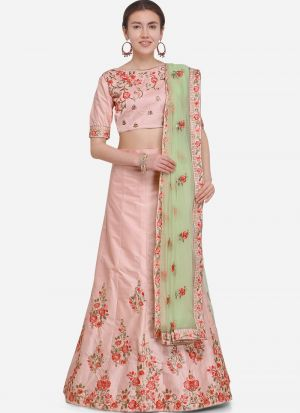 Pink Silk Party Wear Lehenga Choli