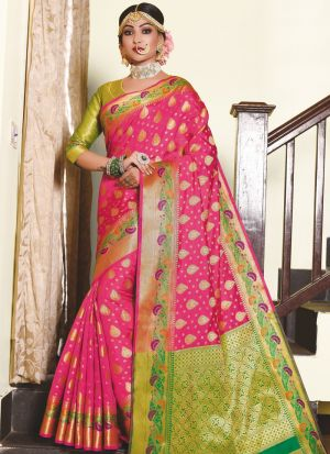 Pink Silk Saree Special Wedding Edition
