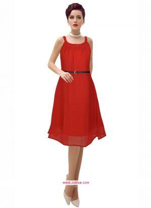 Pleasant Onepiece Red Western Wear Dress
