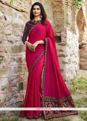 Prachi Desai Rani Sparkle Silk Embroidered Bollywood Saree