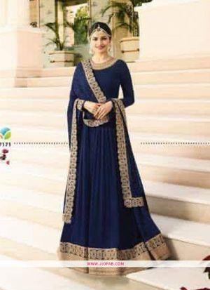 Raj Mahal 7171 Navy Embroidered Designer Floor Length Salwar Suit