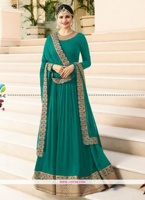 Raj Mahal 7171 Rama Embroidered Designer Anarkali Salwar Suit