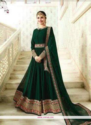 Raj Mahal 7173 Green Embroidered Designer Anarkali Salwar Suit