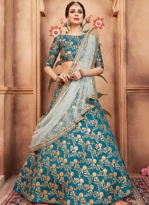 Rama Art Silk Florals Vol 2 Designer Lehenga Choli For Sangeet