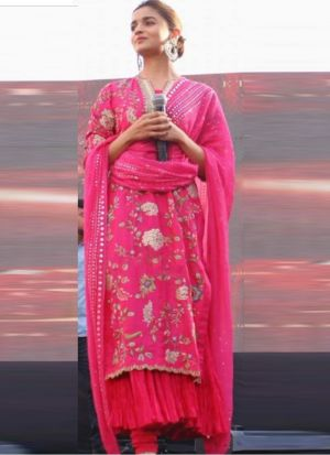 Rani Pink Aliabhatt Fame Anarkali