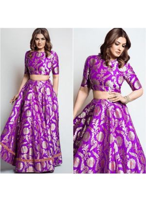 Raveena Tandon Light Purple Bollywood Lehenga Choli
