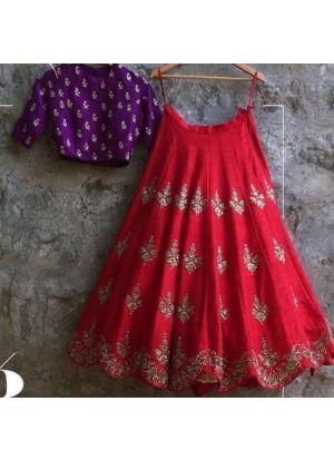 Red Banglori Silk Beautiful Lehenga Choli
