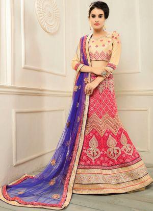 Red Color Designer Exclusive Bridal Lehenga Choli