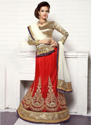 Red Color Designer Lehenga Choli For Wedding