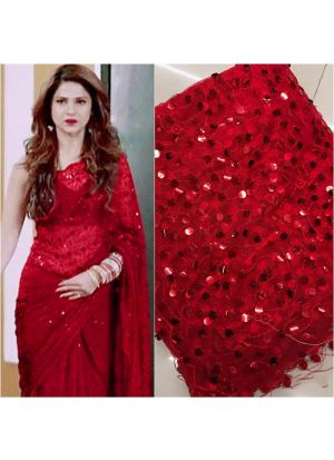Red Color New Launching Superhit Jennifer Winget Saree Special Edition