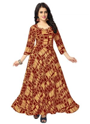 Red Color Pure Heavy Rayon Women Latest Wear Kurti Collection