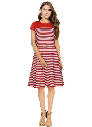 Red Color Short Aline Dresses