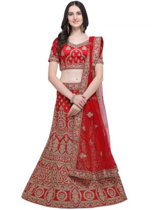 Red Designer Exclusive Bridal Lehenga Choli