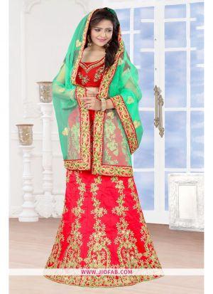 Red Designer Stitched Anarkali Lehenga