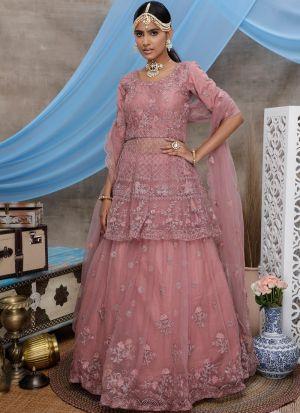 Refreshing Look Peach Traditional Wear Lehenga Choli