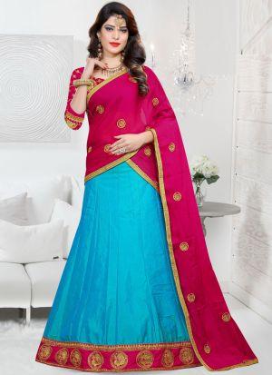 Sana Silk Firozi Wedding Designer Lehenga Choli