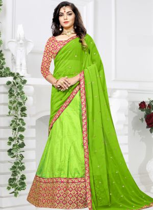 Sana Silk Green Wedding Designer Lehenga Choli