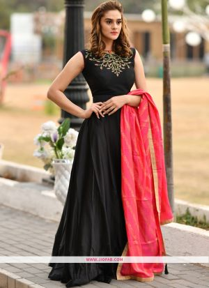 Silk Black Festival Trendy Gown